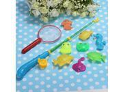 Makes Kids Children Bath Time Fun! Magnetic Fishing Game Toy 1 Rod 8 Fish 1 Net