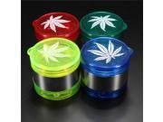 New Leaf Pattern Plastic Herbal Herb Cigarette Cargar Tobacco Grinder Smoke Crusher Hand 5 layer