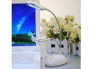 New White USB 13 LED Night Light Desktop Flexible Lamp&Fan for PC Laptop Macbook