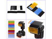 12 Colors Camera Color Gel Fliter Flash Speedlite Colour Correction Sheet Velcro