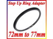 72mm-77mm 72-77 72 to 77 Metal Step Up Ring Lens Filter Stepping Adapter Black
