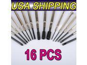 16 pcs Phillips/Pozi/Nut/Flat/Hex Screwdriver Precision Set Watch Repair Tools