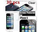 30x Full Front Clear LCD Screen Protector Guard Film Skin Cover for Apple iPhone 5G PVC