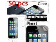 50x Full Front Clear LCD Screen Protector Guard Film Skin Cover for Apple iPhone 5G