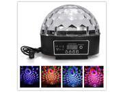 DMX512 Disco DJ Stage Light  Lighting Digital LED RGB Crystal Magic Ball Effect Voice  Remote Control Lamp