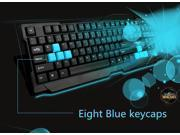FOREV Silent Waterproof USB Wired Game Gaming Keyboard pc laptop