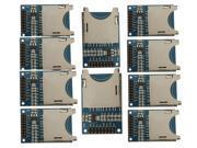 10 pcs Arduino ARM MCU SD Card Module Slot Socket Reader For Mp3 player MOSI, SCK, MISO and CS