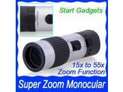 Mini Sports Hunting Camping Adjustable 15-55x 21mm Zoom Monocular Pocket Scope