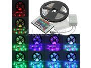 5M 3528 RGB Non Waterproof 300 LED Strip Light 12V DC 24 Key IR Controller Decorate Home Party