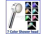Romantic 7 Colors Automatic Changing 8 LED Light Shower Head Water Home Bathroom