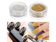 5x Mini Tiny Caviar Ball Beads Metallic Manicure Nail Art Acrylic Tips Decoration