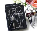 Creative Love Heart Shaped Red Wine Bottle Opener Set