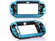Blue  Aluminum Case + Full Body Front & Back LCD Screen Protector for Sony PS Vita PSV PCH-1000 Series