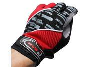 2pcs Unisex Outdoor Sports Cycling Biking Bicycle Full Finger Gloves Comfortable Non-earthquake/Shockproof M L XL Size Red