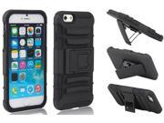 Heavy Duty Impact Rugged Hybrid Case Cover Kickstand for iPhone 6 Plus 5.5 inch