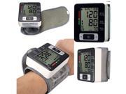 Automatic Digital LCD Wrist Blood Pressure Pulse Upper Monitor Heart Beat Meter