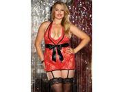 Shirley of Hollywood Queen Red Stretch Lace Chemise X3262 Red 1X