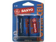 Sanyo Ac2D Alkaline Batteries Blister Packs (D 2Pk) SAND SANYO