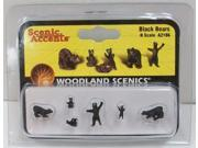 Woodland Scenics A2186 N Scale Black Bears WOOA2186 DESIGN PRESERVATION MODELS