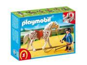 Playmobil Knabstrupper Horse with Trainer and Stable 5107