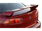 2007-2012 Lancer 4 door Sedan JSP® Factory Style 2 Pedestal ABS Wing Spoiler Primed (Fits: Mitsubishi)