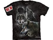 Eclipse Wolves Adult T-Shirt by The Mountain - 10-3398