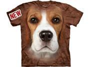 Beagle Face Adult T-Shirt by The Mountain - 10-3330