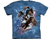 Patriotic Eagle Collage Adult T-Shirt by The Mountain - 10-3237