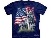 Wolf Flag Adult T-Shirt by The Mountain - 101002