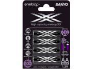 Sanyo Eneloop XX Pre Charged Batteries 4 Pack 2450mAH High Capacity
