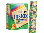 100 Prints Fuji Instant Wide Film F/ Instax 200 / 210