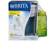 Brita Classic Pitcher w/16 oz Nalgene Water Bottle