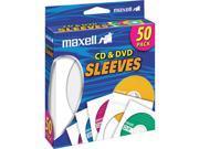190135 White CD/DVD Sleeves - 50 Pack