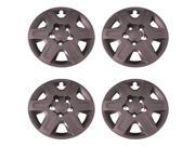 Set of 4 Silver 16 Inch 6 Spoke Dodge Caravan Hubcaps w/ Bolt On Retention System - Aftermarket: IWC451/16S
