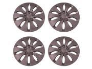 Set of 4 Silver 16 Inch Universal Honda Accord Replica Hubcaps with Metal Clip Retention System - Aftermarket: IWC439/16S