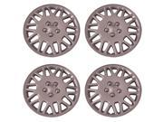 Set of 4 Silver 16 Inch Aftermarket Replacement Hubcaps with Metal Clip Retention System - Aftermarket Part: IWC406/16S