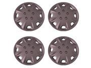 Set of 4 Silver 15 Inch Universal Honda Accord 8 hole Replica Hubcaps with Clip Retention - Aftermarket: IWCB8094/15S