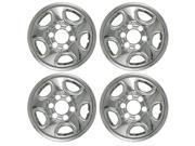 "Set of 4 16"" Chrome Wheel Skin Hubcap: Chevy (Astro '03 -'08, Silverado '99 -'04, Tahoe '99 -'06) GMC (Sierra) 16x6 Inch 6 Lug Steel Rim: IMP-08X"