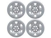 Set of 4 Chrome Wheel Skin Hub Covers for Nissan Frontier 15x6 Inch 6 Lug Steel Rim - Part: IMP/71X