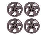 "Set of 4 Chevy Malibu & Pontiac G6 Bolt-on 17"" inch Silver Hub Cap 5 Spoke Wheel (Rim) Covers"