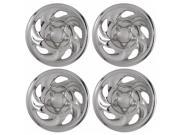 Set of 4 Chrome Wheel Skin Hub Covers With Center For Ford ('97 - '03 F150)  & '97 - '00 Expedition 16x7 Inch 5 Lug Steel Rim - Aftermarket: IMP/01X