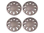 Set of 4 Silver 17 Inch Aftermarket (Crown Victoria replica Hubcaps) Wheel coves w Snap On Retention System : IWC433/17S