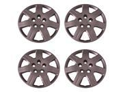 Set of 4 Silver 16 Inch 7 Spoke Replacement Honda Civic Hubcaps w/ Bolt On Retention System - Aftermarket: IWC452/16S