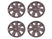 Set of 4 Silver 15 Inch Aftermarket (replica of 2007 - 11 Elantra Hub Cap) w Clip Retention System : IWC434/15S
