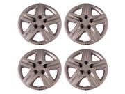 Set of 4 Chrome 17 Inch Aftermarket Replacement Hubcaps with Metal Clip Retention System - Aftermarket Part: IWC431/17C