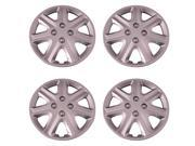 Set of 4 Silver 15 Inch (Honda Civic Replica Hubcaps) 7 Spoke Universal Wheel Covers with Clip Retention - Aftermarket: IWCB8902/15S