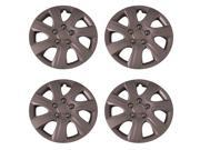 Set of 4 Silver 16 Inch Universal (Replica of Toyota Camry Hubcaps) Wheel Covers w/ Metal Clip Retention - Aftermarket: IWC445/16S