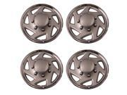 "Set of 4 Chrome w Silver ring 15"" Inch 7 Spoke Universal Hubcap Replacement - Aftermarket: IWC9415C"