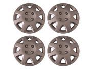 Set of 4 Silver 14 Inch (Honda Civic 8 Spoke Replica Hubcaps) Universal Snap on Wheel Covers - Aftermarket: IWCB895/14S