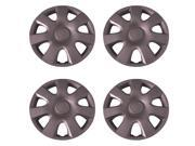 Set of 4 Silver 15 Inch (Toyota 7 Spoke Camry  Replica Hubcap) Universal Wheel COver with Clip Retention - Aftermarket: IWCB944/15S